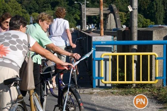 krajinsky most cyklisti