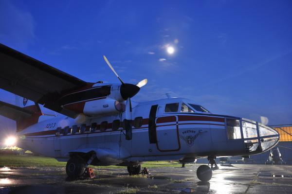 letisko noc muzei lietadlo