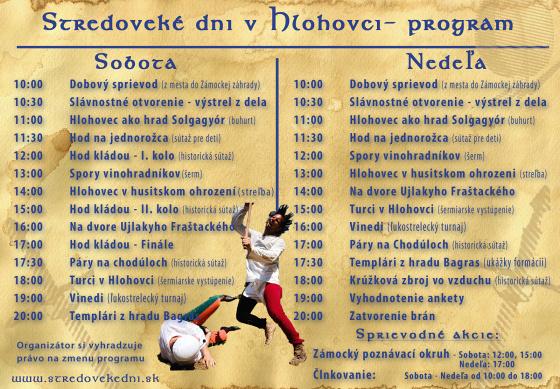 program stredoveke dni