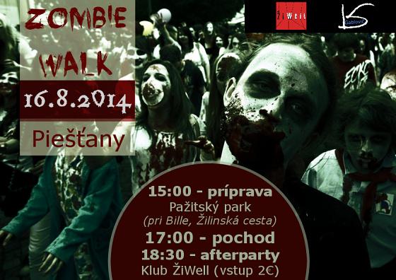 Zombie walk hotový plagát 2