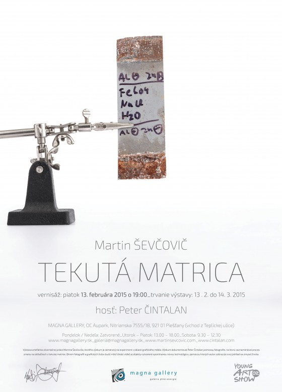 poster TEKUTÁ MARTINCA_Martin Ševčovič_Magna GALLERY_ 2015_