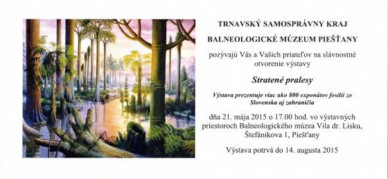 pozvánka Stratené pralesy výstava