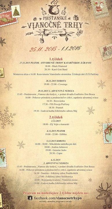 Vianocne trhy program