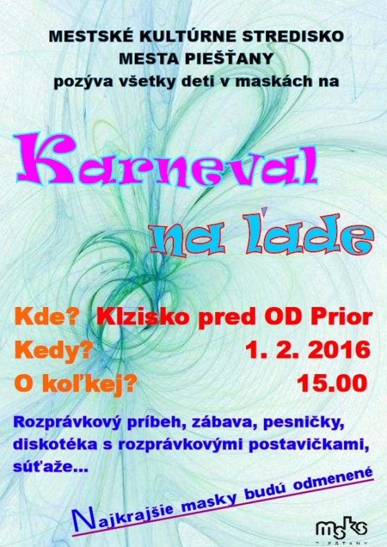 karneval na lade 1 2 2016 o 15 hodine