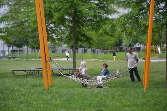 hupacie siete - v každom parku