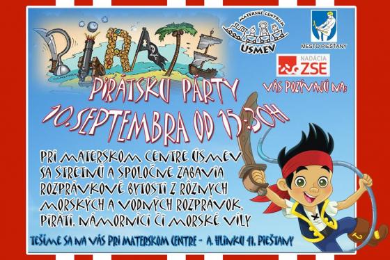 Pirátska párty - plagát
