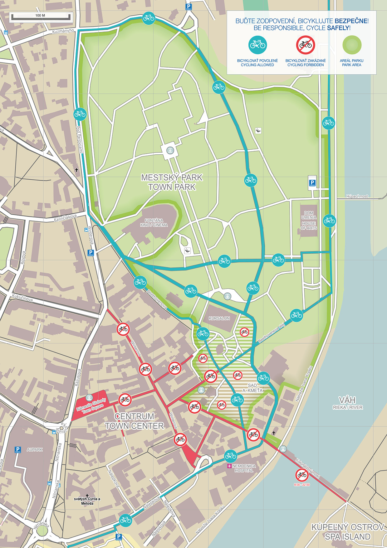 rezort piestany A4 cyklo mapa park piestany web - 2