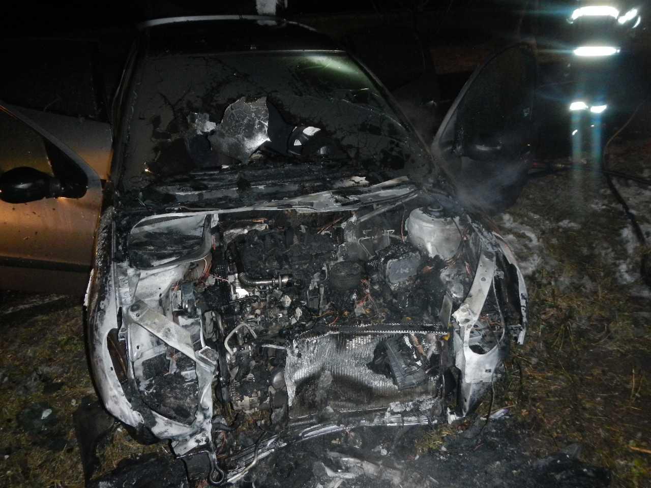 Malženice požiar auta 01