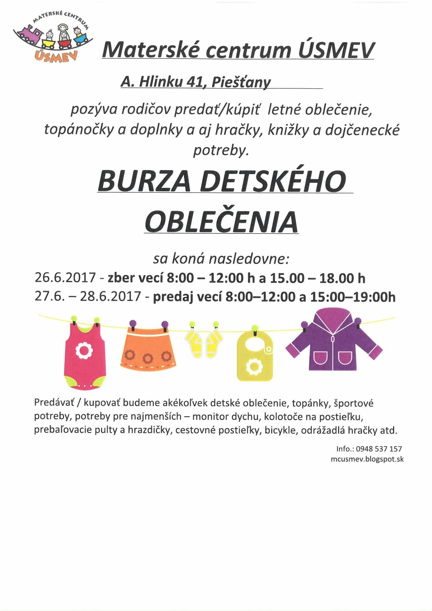 de54b68ffab1 Burza detského oblečenia i iných potrieb už budúci týždeň - PNky.sk