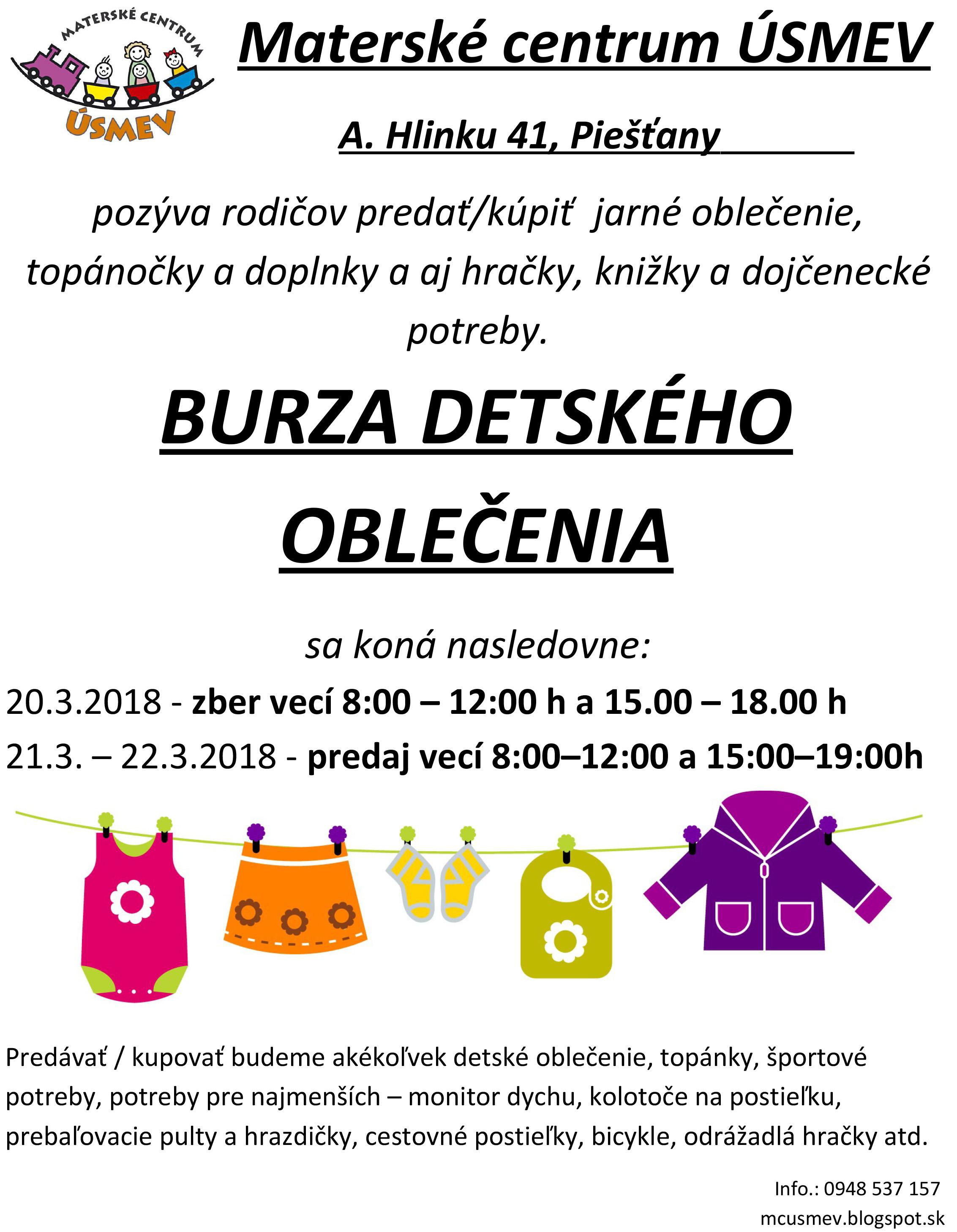 3b3938f1e05c Burza detského oblečenia v Úsmeve už o týždeň - PNky.sk