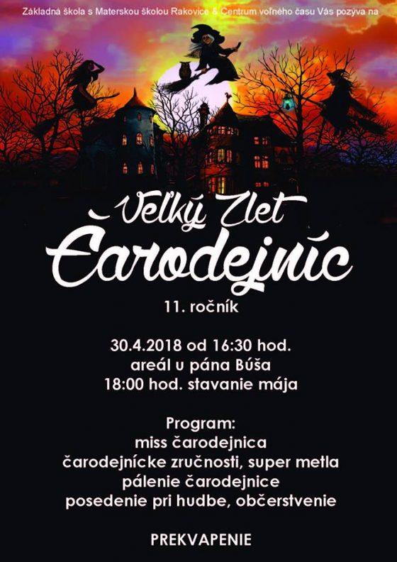 Veľký zlet čarodejníc - čarodejnice sa stretnú v obci Rakovice