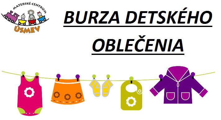 5ce5c6d9f835 Materské centrum ÚSMEV pozýva rodičov predať kúpiť jesenné oblečenie